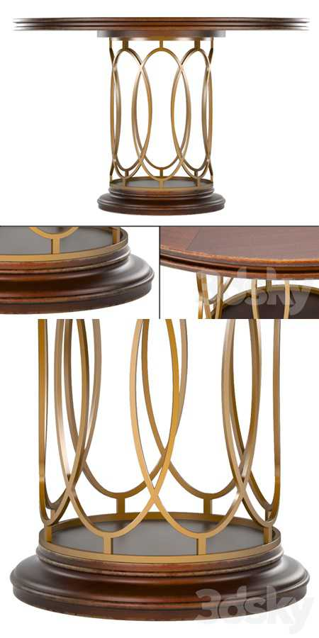 Avalon Heights-Neo Deco Pedestal Table
