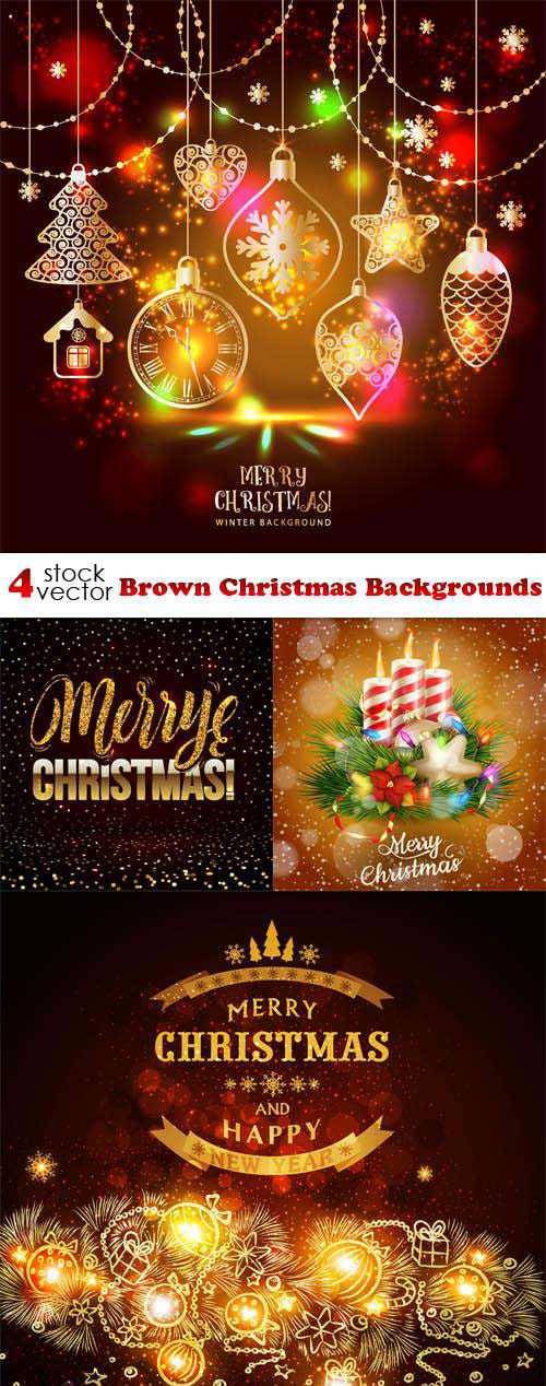 Vectors – Brown Christmas Backgrounds