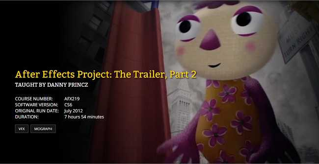 FXPHD – AFX219 – After Effects Project: The Trailer, Part 2