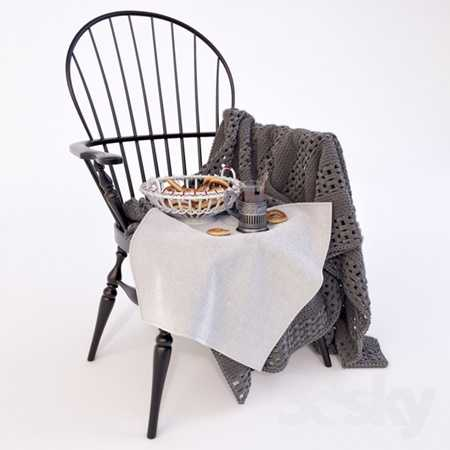 Windson chair with plaid