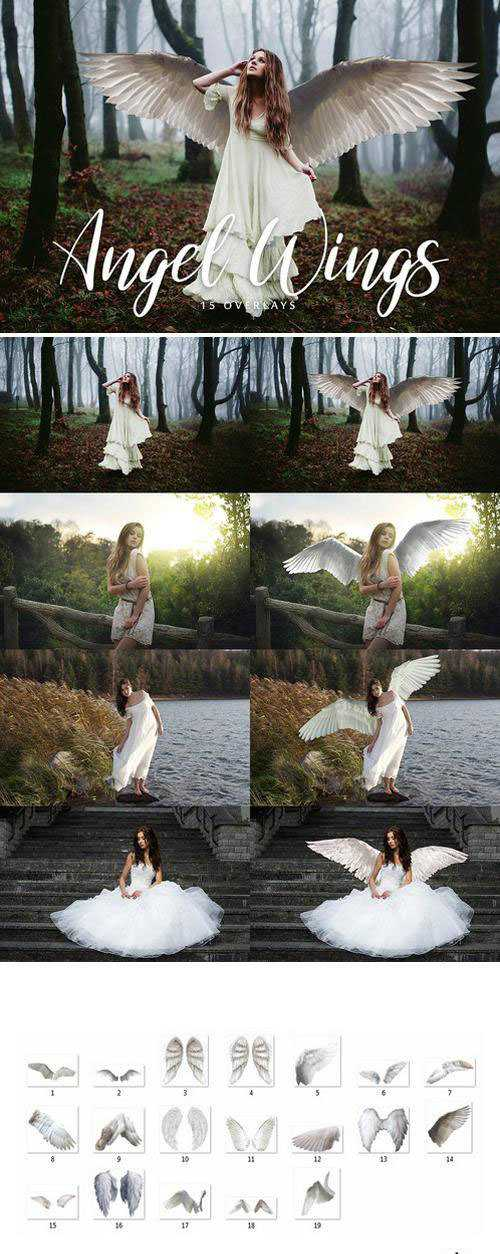 Angel Wings Overlays - 15 Overlays
