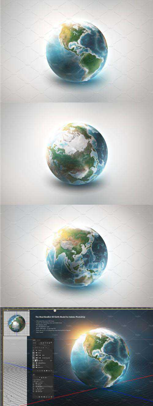 CM – 3D Earth World for Photoshop – 3029396