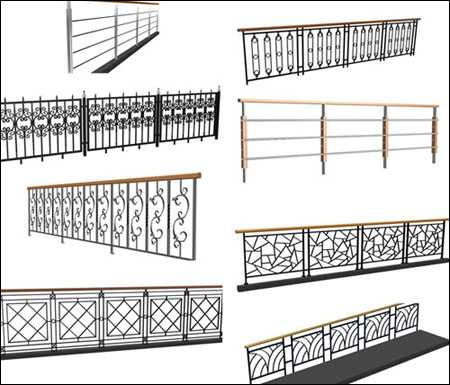 Max Iron Railings 3D models