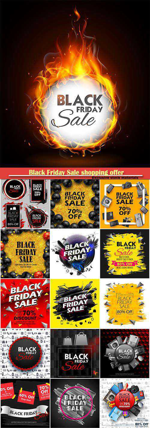 Black Friday Sale shopping offer and promotion background