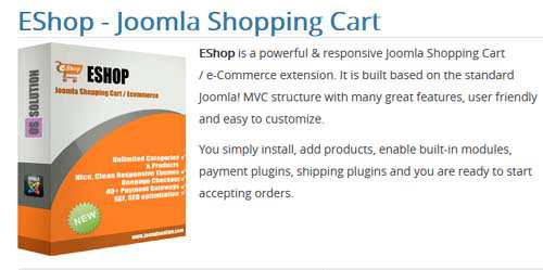 JoomDonation - EShop v3.0.1 - Joomla Shopping Cart