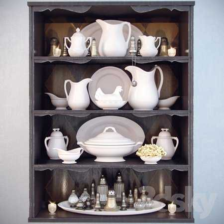 Dishes for shelves Decor Shelf