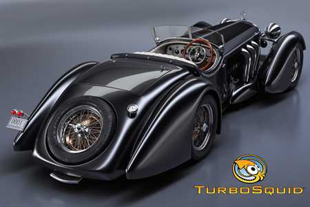 Turbosquid Mercedes-Benz SS Roadster 1930 Erdmann&Rossi retro legend sport cabriolet