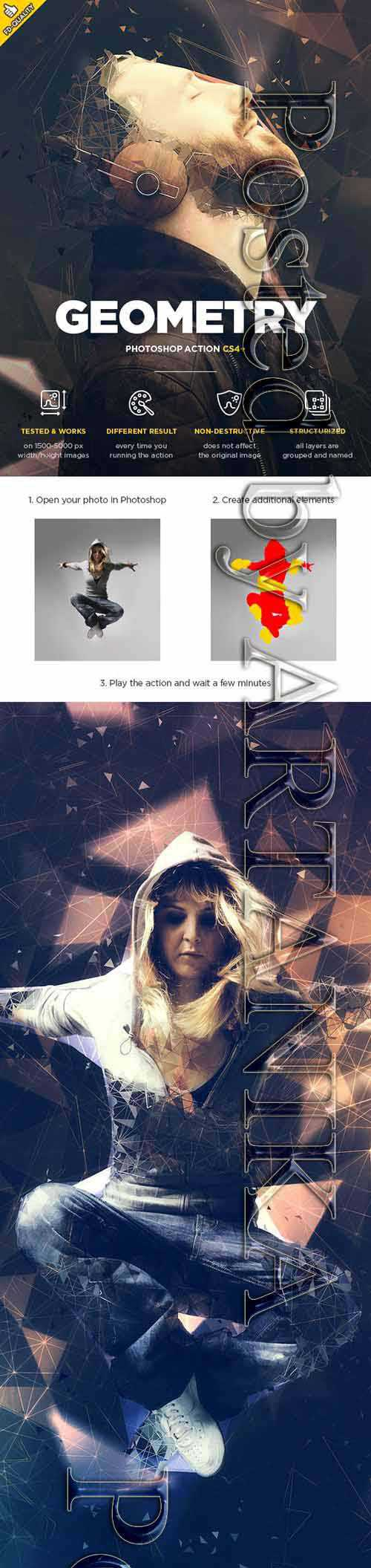 GraphicRiver - Geometry CS4+ Photoshop Action 21162767