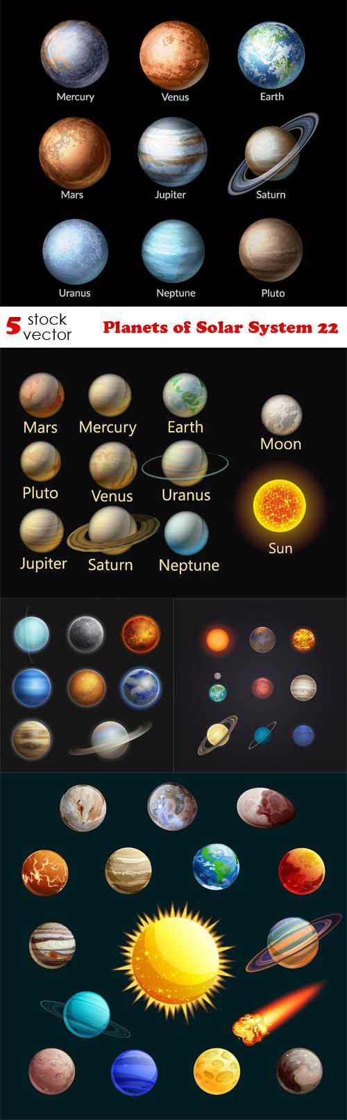 Planets of Solar System 22