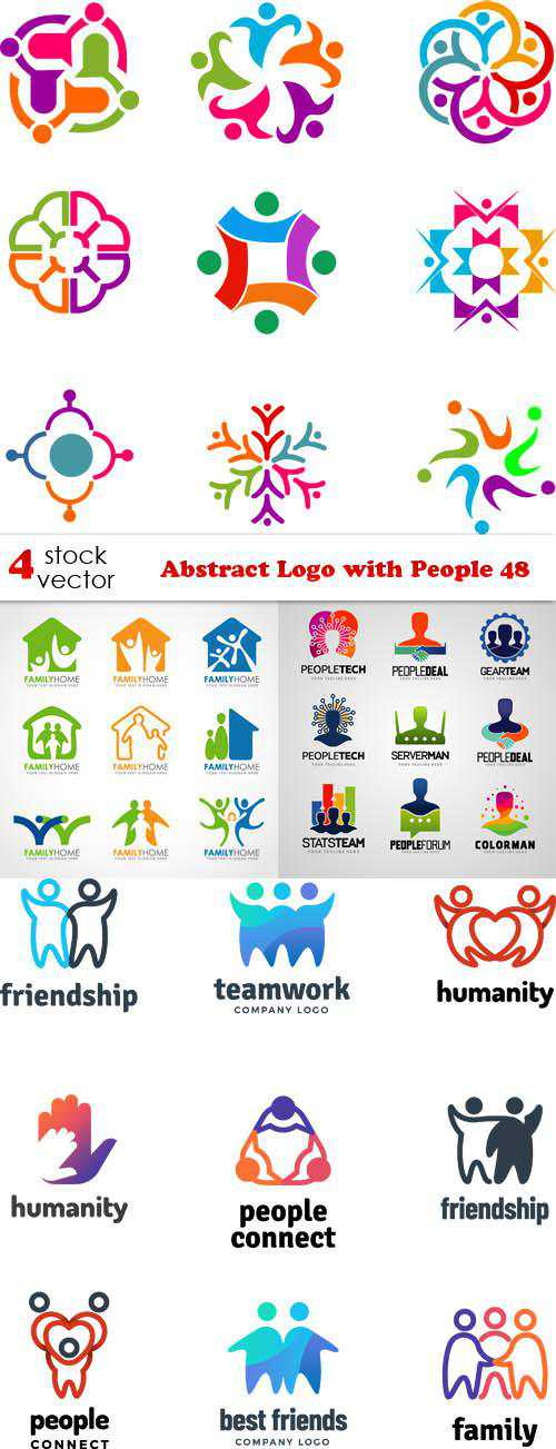 Abstract Logo with People 48