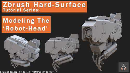 Gumroad - Zbrush 4R7 ' Robot Head' modeling tutorial series