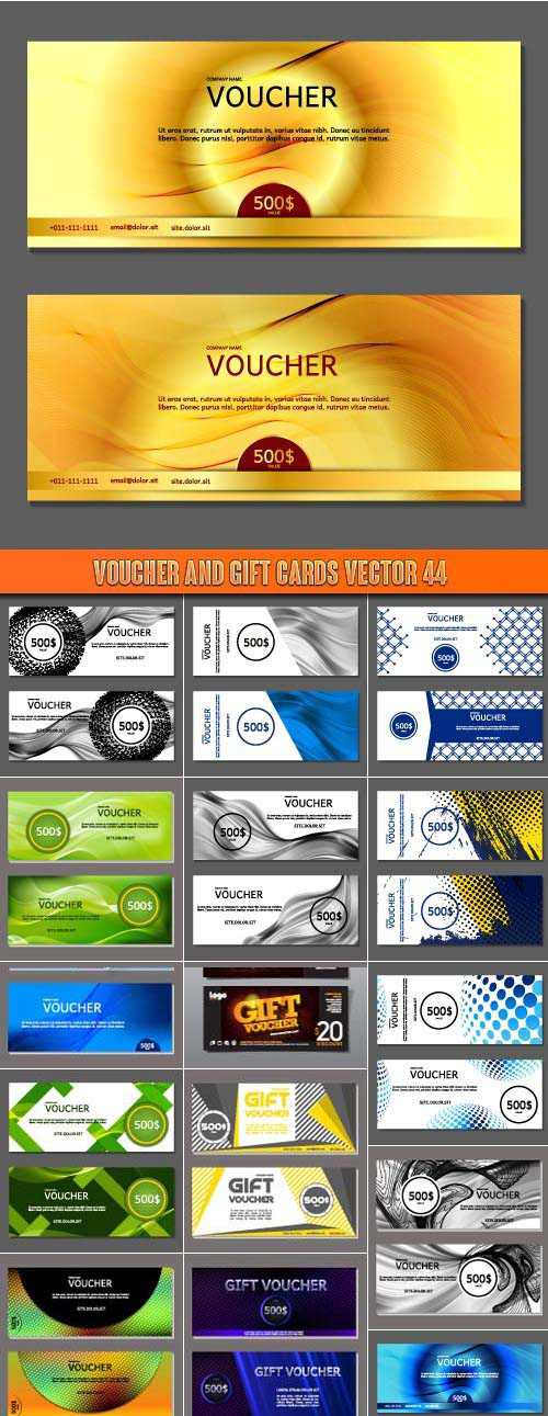 Voucher and gift cards vector 44