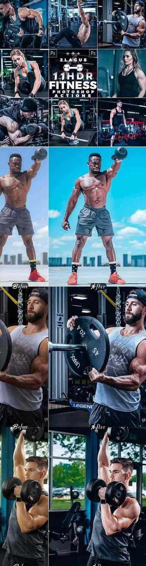 HDR Fitness Photoshop Actions 26426987