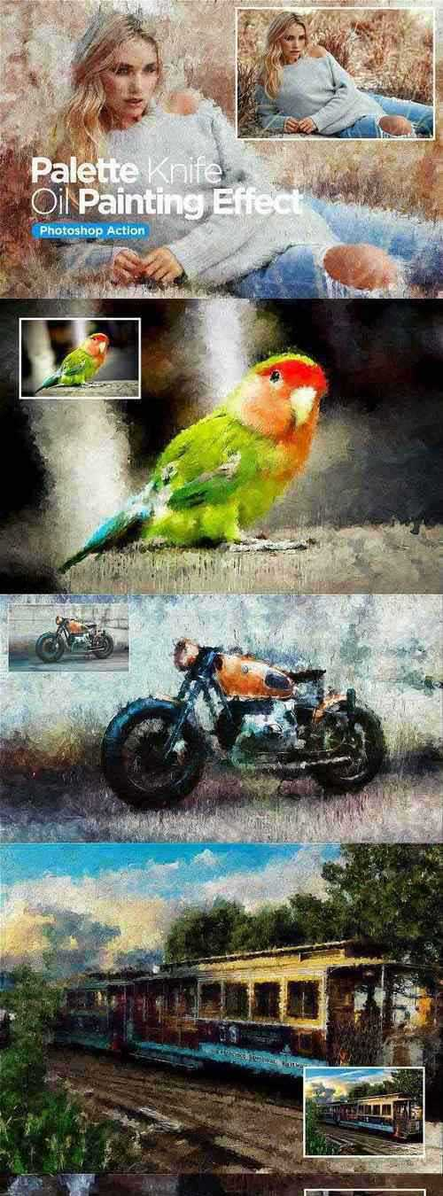 Palette Knife Oil Painting – Action 2766436