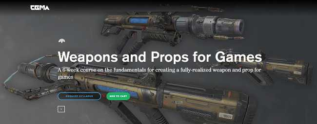CGMA – Weapons and Props for Games