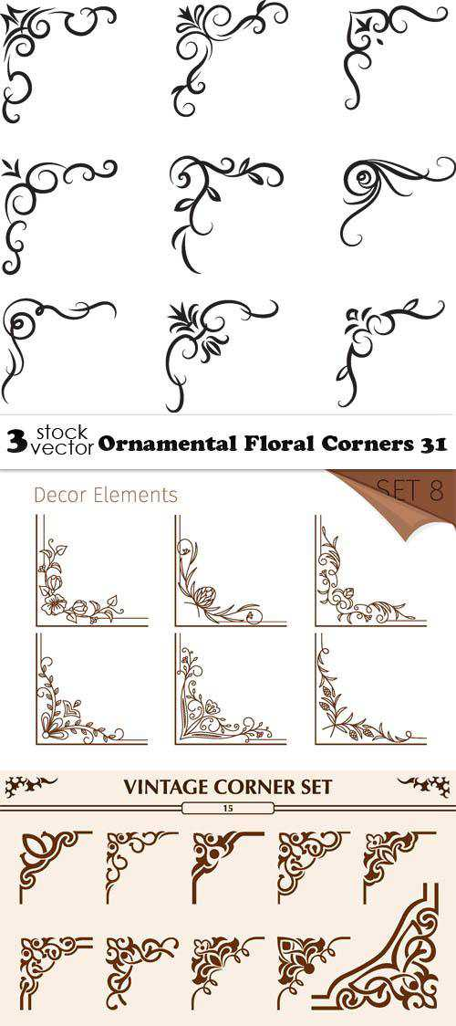 Ornamental Floral Corners 31