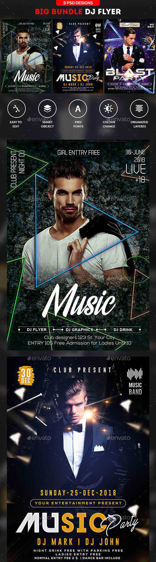 GR – Guest DJ Flyer Bundle 21666989