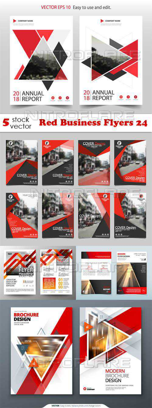 Red Business Flyers 24