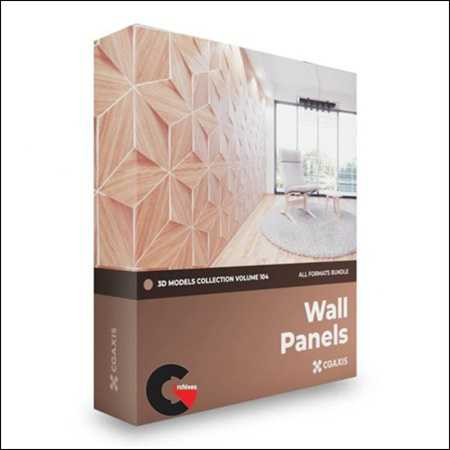 CGAxis Wall Panels 3D Models Collection Volume 104