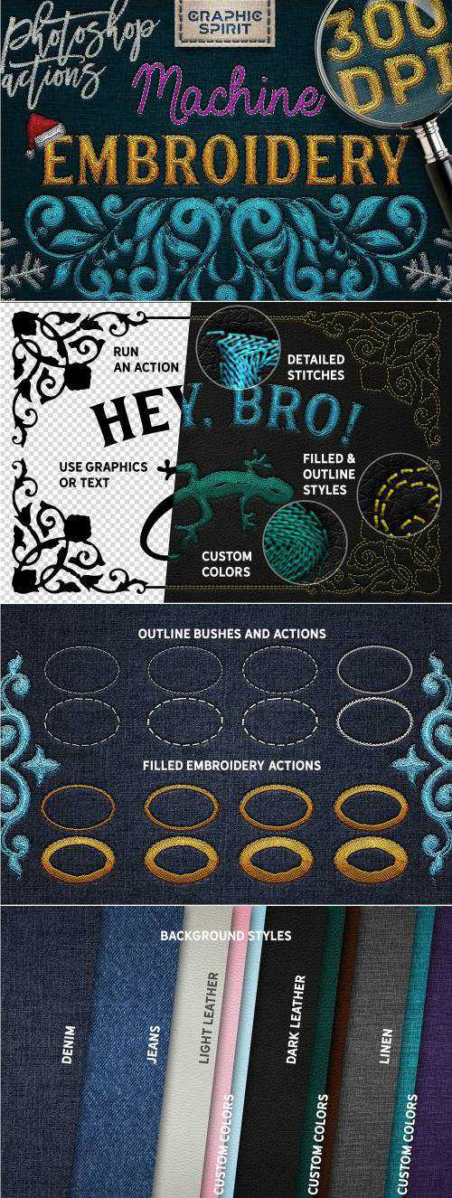 CM – Machine Embroidery Photoshop Actions – 2167124