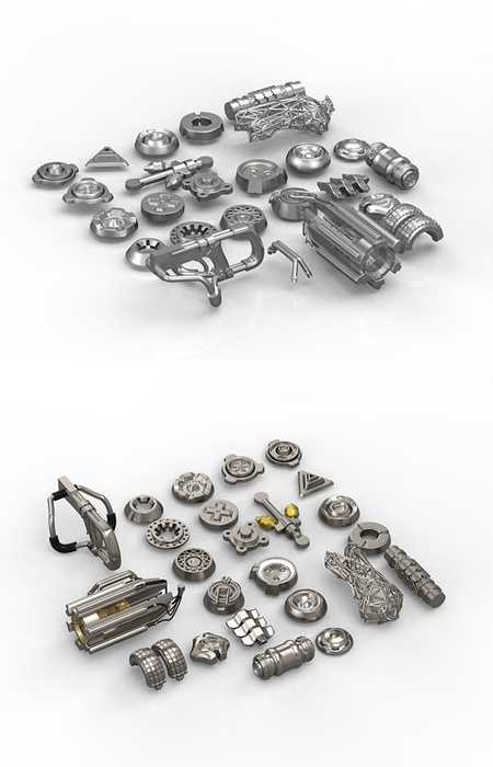 Cgtrader Pack of tech details 3D model