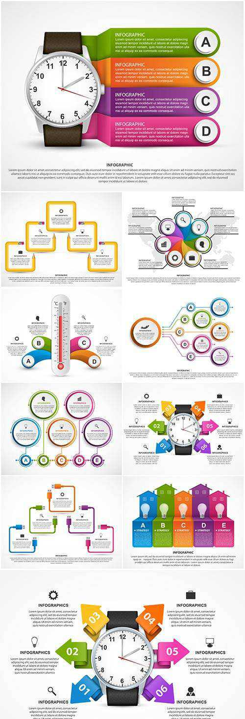 Infographics vector template for business presentations or information banner # 94