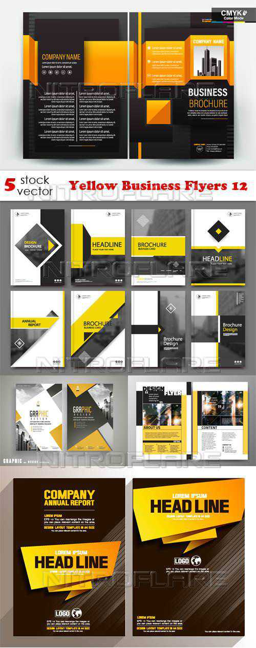 Yellow Business Flyers 12