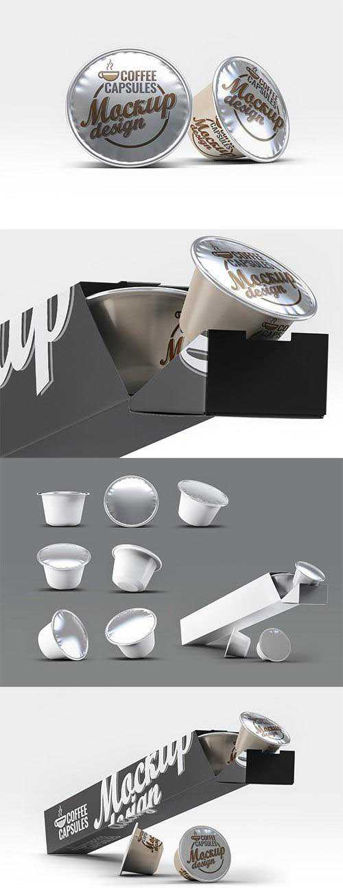 PSD Coffee Capsules Mock-Up