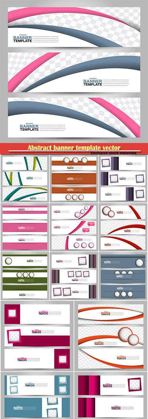 Abstract banner template, vector background for design, business, education, advertisement