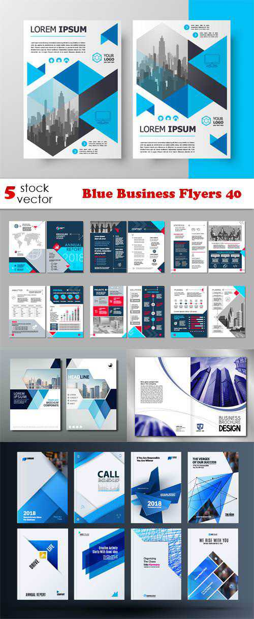 Blue Business Flyers 40