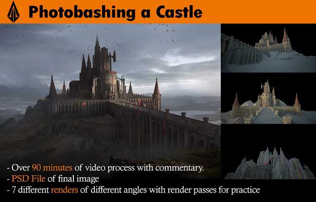 Gumroad – Castle – Photobashing and Matte Painting Techniques with Jose Vega