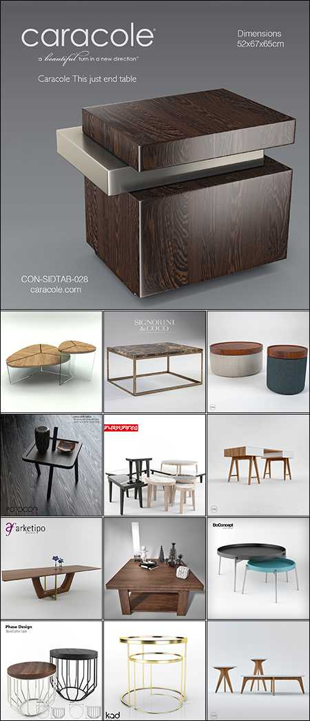 Max Modern Table Collection 1