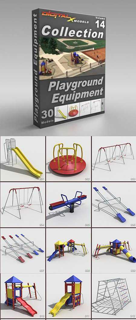 DigitalXModels – 3D Model Collection – Volume 14: PLAYGROUND