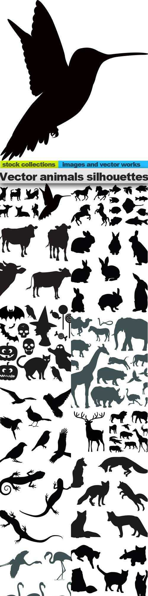 Vector animals silhouettes 3