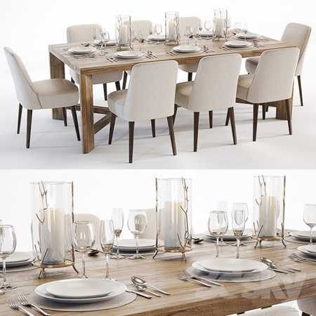 Curations Limited Gernoble & Torino table set