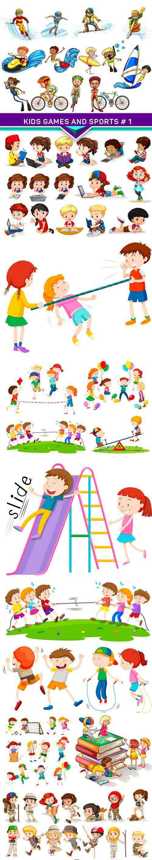 Kids Games and Sports #1 10x EPS