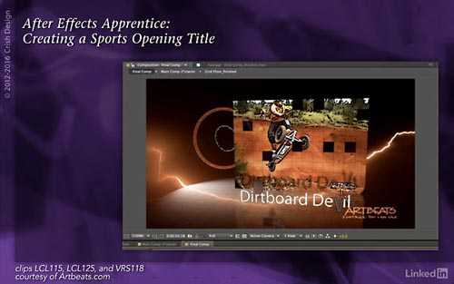 Tutorials  Lynda – After Effects Apprentice 15: Creating a Sports Opening Title (updated Nov 11, 2…
