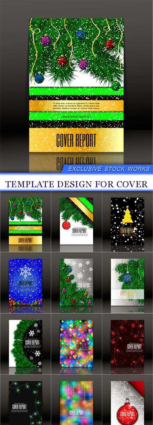Template design for cover 12X EPS