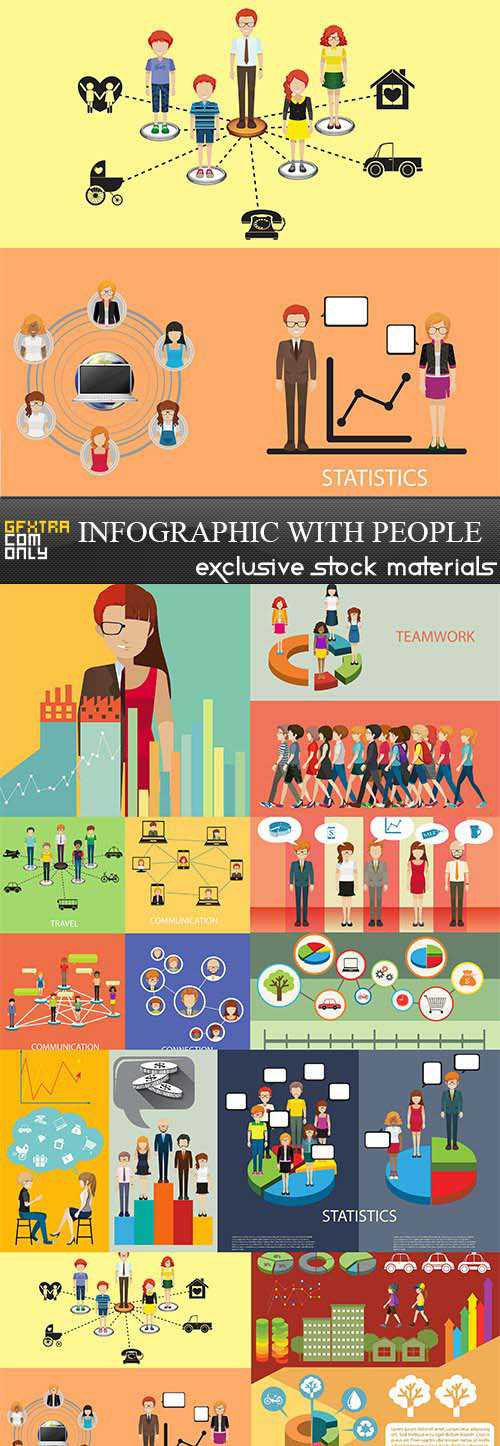 Infographic with people 3