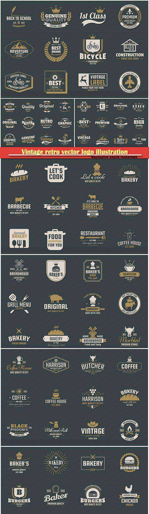 Vintage retro vector logo illustration for banner