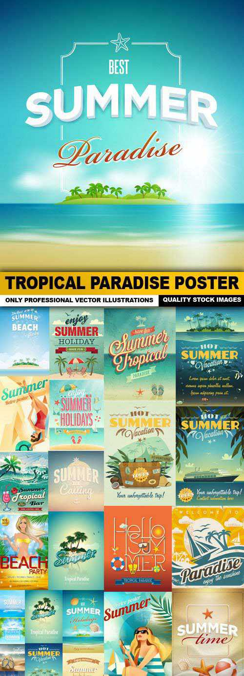 Tropical Paradise Poster  2
