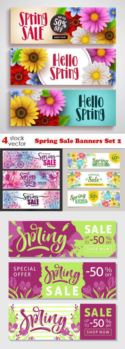 Spring Sale Banners Set 2