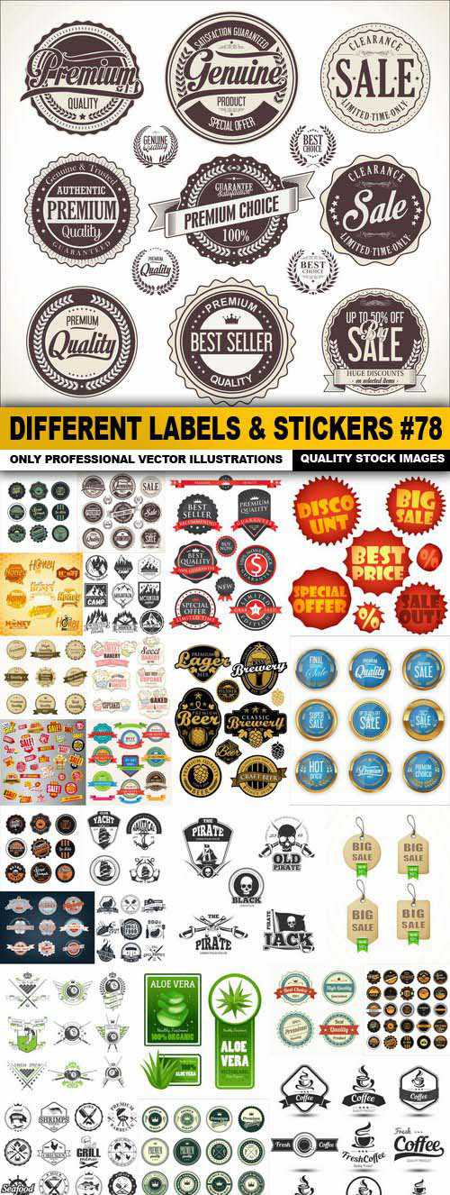 Different Labels & Stickers set 78