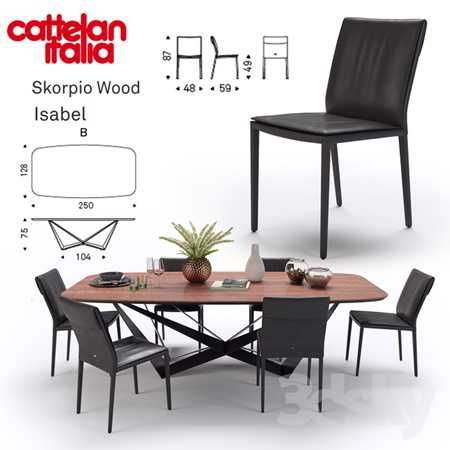 Table Scorpio Wood  Chair Isabel  Cattelan Italia