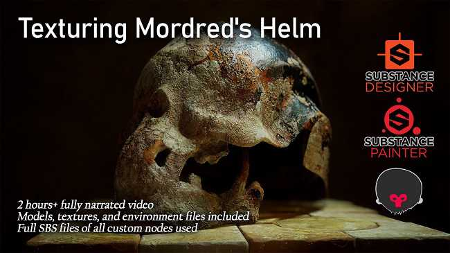 ArtStation – Texturing Mordred's Helm with Marcus Johnston