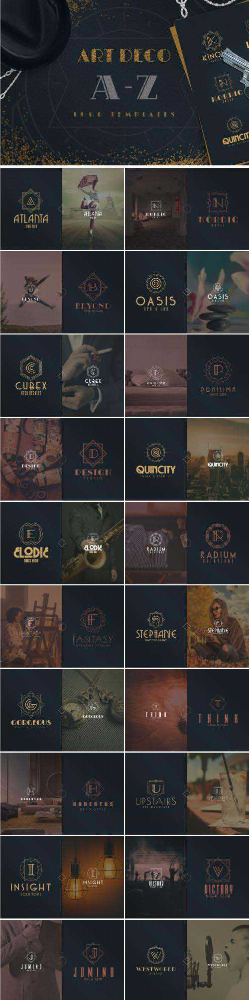 CM - Art Deco A-Z Logo Templates - 2112845