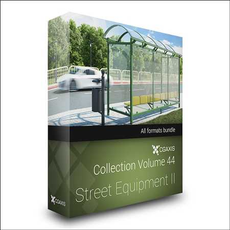 CGAxis Volume 44 Street Equipment 2