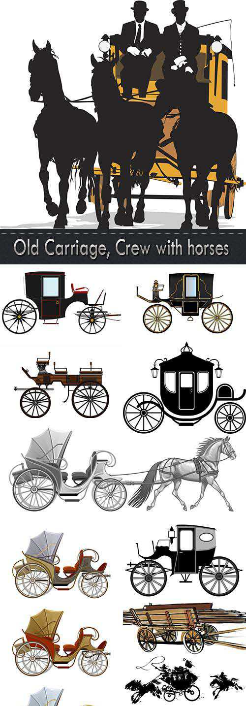 Old Carriage, Crew with horses 2