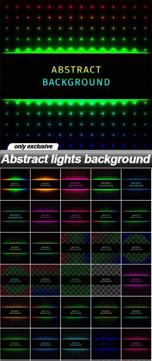 Abstract lights background – 50 EPS