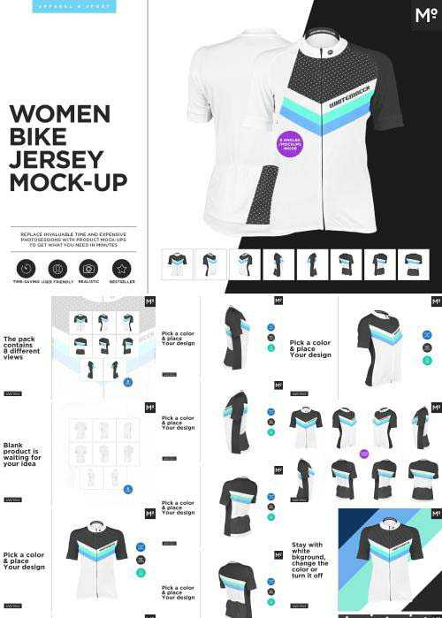 CM – Women Bike Jersey Mock-up – 1923287